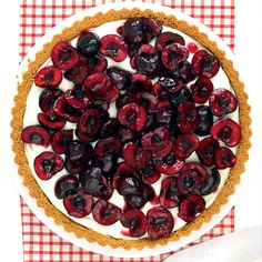 You don't actually cook the cherries in this oh-so-fresh tart, which shows off their peak-season flavor.