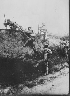 Japanese forces attacking the German controlled port of Tsingtau during World War One China 1914