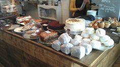 Cake display at Treacle & Co cafe in Hove