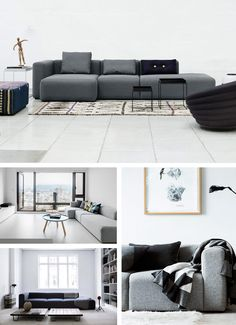 m bel und accessoires von hay aus d nemark sofa mags moodboard wohnen pinterest. Black Bedroom Furniture Sets. Home Design Ideas