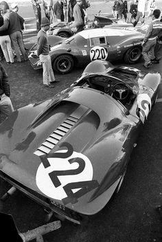 1967 Targa Florio .. Ferrari P3 (No. 224) .. Entered by Scuderia Filipinetti (CH) .. Driven by Vaccarella (I) / Scarfiotti (I) . DNA>crash .. Ferrari 412p (No. 220) Entered by Spa Ferrari SEFAC (I) .. Driven by H.Muller (D) Guichet (F) . DNF>diff .