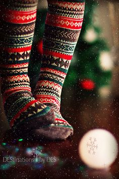 Cute <3 I love warm socks at Christmas time :)