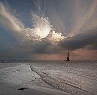 Folly Beach SC - Morris Island Lighthouse in the Charleston SC area
