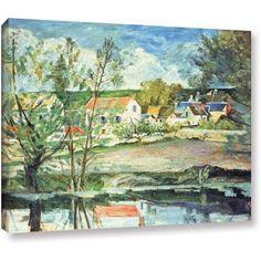Paul Cezanne In the Oise Valley Gallery-wrapped Canvas Art, Size: 14 x 18, Blue