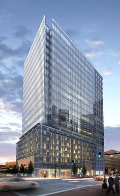 Plans for Denver's next office tower unveiled - Denver Business Journal Commercial Architecture, Architecture Office, Contemporary Architecture, Glass Facades, High Rise Building, Rooftop Terrace, Floor To Ceiling Windows, Ground Floor, Building Design