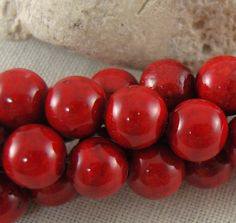 "6mm Red River stone Bead, Round, 16"" Inch Strand"