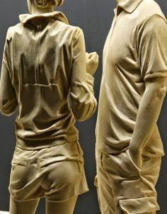 Detail of wood carved figures by Peter Demetz (b. 1969).