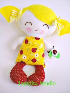 Handmade cloth doll... EarthFriendly Doll... by lunnitastudio, $22.00