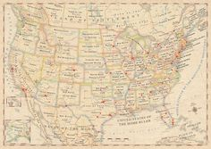Atlas of True Names USA. The literal translations of state and country names. Astounding!