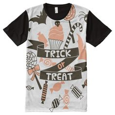 Trick or Treat Goodies Design All-Over-Print Shirt #halloween #holiday #creepyclothing #fashion #mensclothing