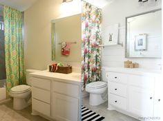 Crazy Wonderful: DIY shiplap girl's bathroom makeover