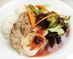 Denné menu Vranov | Bravčové karé v slivkovej omáčke s dusenou ryžou - reštaurácia Hotel Patriot*** #hotel #restauracia #dennemenu