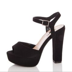 Quiz Ladies Wide Fit Black Faux Suede Platform Heels - Black   Buy Online in South Africa   takealot.com South Africa, Platform, Lady, Heels, Fitness, Stuff To Buy, Fashion, Heel, Moda