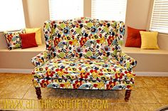 I am not crazy about the fabric in this photo but I have a furniture piece I got for free that I have been waiting to reupholster into a modern look. 10 yards of fabric, not so bad.