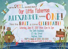 O-Fish-Ally Invited 5x7 Printable 1st Birthday
