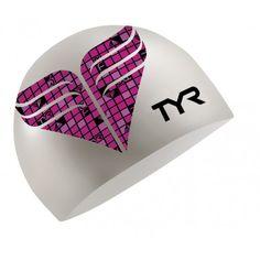 TYR Pink Silicone Swim Cap