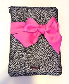 Animal print fabric Nursing Clinical Accessory Case with a pink bow. A cute way to protect & transport your stethoscope & blood pressure cuff . Priced at $46.00 by LoveAmarie.