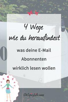 Effektives E-Mail Marketing besteht aus 2 Grundsäulen: finde heraus was deine E-Mail Abonnenten wollen und liefere es ihnen.