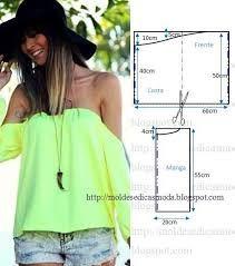 Resultado de imagen para molde de blusas sin hombros