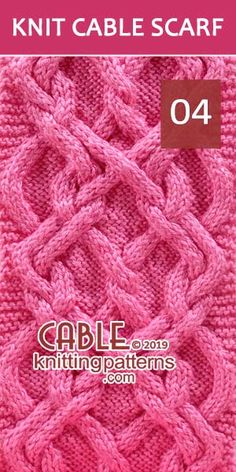 Hodor Celtic Knot Cable Scarf -Pattern 04, its Free. Advanced knitter and up.