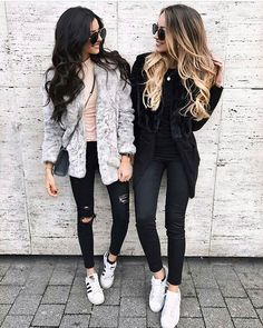 Winter 2018 brings an array of beautiful outfit ideas. He is a special season to layer your favorite clothing one over another to create a perfect cozy look. Casual Winter Outfits, Winter Outfits Tumblr, Jeans Outfit Winter, Winter Outfits For Work, Spring Outfits, Outfit Summer, Cute Outfits For School, Outfits For Teens, Trendy Outfits