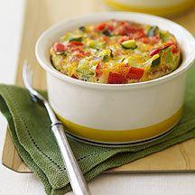 Breakfast Veggie Casserole - 5 PointsPlus #weightwatchers
