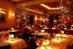 La Grenouille restaurant, NYC. Mom and Sara humored my obsession with eating here last time we went. Delicious frogs' legs and best souffle I've ever had.