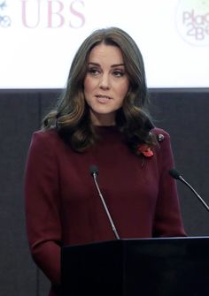 Kate Middleton Photos - Catherine, Duchess Of Cambridge speaks at the annual Place2Be School Leaders Forum at UBS London on November 8, 2017 in London, England. Catherine, Duchess Of Cambridge is Patron of Place2Be, a National Children's mental health charity. - The Duchess Of Cambridge Attends Place2Be School Leaders Forum