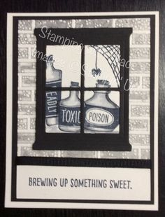 sweet haunting halloween card by Stamping with Stace