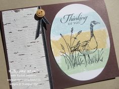 Stampin' Up!® Masculine card using Wetlands stamp set - Stamp Your Art Out! www.stampyourartout.com