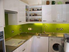 Lime Green Glass Splashback london