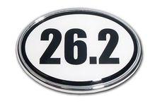 26.2 Marathon Chrome Car Emblem