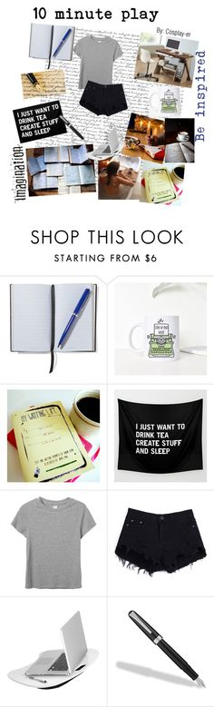 """10 minute play"" by cosplay-er ❤ liked on Polyvore featuring Smythson, Monki, Honey-Can-Do, Fountain and Baxton Studio"