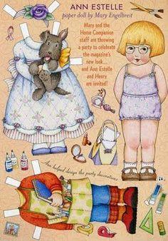 Vystřihované panenky pro děti