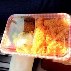 手作りお弁当Part1♡ - 6件のもぐもぐ - チキンライス ハンバーグ ポテトサラダ by ayk8587