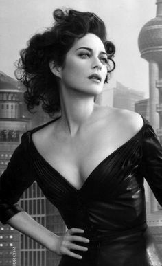 ♀ Black and white photography actress woman portrait - Marion Cotillard