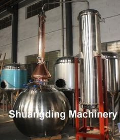 Stainless Steel and Copper Alembic Pot Still Alcohol Distilling Machine on Made-in-China.com
