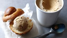 Easy Coffee Ice Cream Recipe : Cooking Channel (from Nigella Lawson, only four ingredients, egg free, no ice cream machine needed) No Churn Ice Cream, Coffee Ice Cream, Nigella Lawson, Frozen Desserts, Frozen Treats, Baking Desserts, Baking Recipes, Sin Gluten, Gluten Free