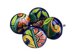 Hand Painted Talavera Cabinet Knobs