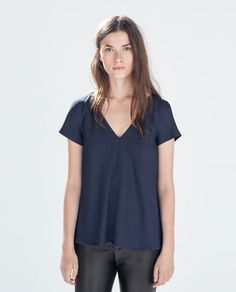 TOP WITH SLITS-Blouses-Tops-WOMAN | ZARA United States