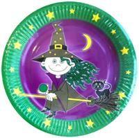 Tatlı Cadı, Büyük Tabak 10'lu cadılar bayramı halloween partileri için 23cm kullan at kağıt parti tabağı. 300 gram kartondan üretilmiştir. Yüzayi parlak selefon kaplamadır. Kutlama ve partilerinizde, parti sofralarının vazgeçilmez parti ürünüdür. Diğer temalı parti malzemeleri ile kombinleyebilirsiniz.