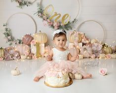 Fall First Birthday, Fall 1st Birthdays, Girls First Birthday Cake, 1st Birthday Girl Decorations, Pumpkin 1st Birthdays, Pumpkin First Birthday, Birthday Girl Pictures, 1st Birthday Cake Smash, Girl Birthday Themes