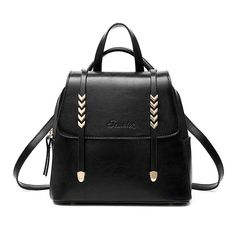 Women Faux Leather Backpack Messenger Tote Girl College School Bag Bookbag Trip  #Unbranded #Backpack