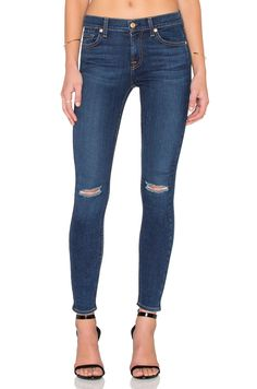 c14418406cf 7 For All Mankind Distressed Ankle Skinny jeans on ShopStyle Effortless  Chic