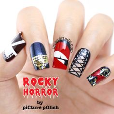 Press Sample + Purchased Item Hi everyone, I& super excited to launch the Rocky Horror Nail Collection by piCture pOlish! This amazing collection has 5 polishes: Columbia, Time Warp, Rocky, Frank-. Rocky Horror Show, The Rocky Horror Picture Show, Rockabilly Nails, Rockabilly Style, Rockabilly Fashion, Nail Polish Supplies, Punk Nails, Nail Polish Online, Gothic Nails