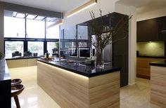 The Block Glasshouse kitchen reveals - The Interiors Addict Interior Exterior, Interior Design Kitchen, Modern Interior Design, The Block Kitchen, The Block Glasshouse, Architecture Design, Kitchen Benchtops, Stone Benchtop, Stylish Kitchen