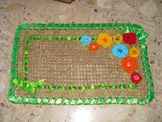 Zerbino con fiori a uncinetto - Welcome carpet with tricot flowers