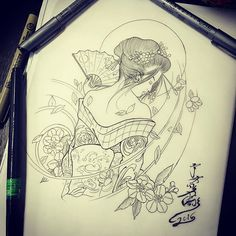 Plan Change!!! @galaxy.tattoo2 #geishatattoo #geisha #singaporeart #singaporeartist #singaporetattoo #sgink #tattoodesign #sketch #drawing #orientalart #orientalartist #asianart #asianartist #artwork #japaneseart