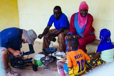 Jasyn Filming Sambaly Cissokho His Wife and their Children