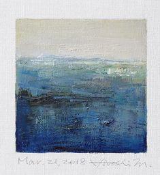 Il s'agit d'une peinture à l'huile abstraite par Hiroshi Matsumoto Titre : 21 mars 2018 Taille : 9,0 cm x 9,0 cm (environ 4 x 4) Toile taille : 14,0 cm x 14,0 cm (env. 5,5 x 5,5) Technique : Huile sur toile Année : 2018 Peinture est feutré en écru pour s'adapter à cadre standard 8